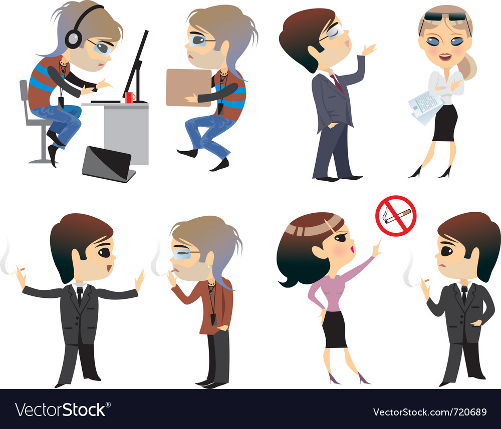 Profession office character vector | Price: 3 Credit (USD $3)