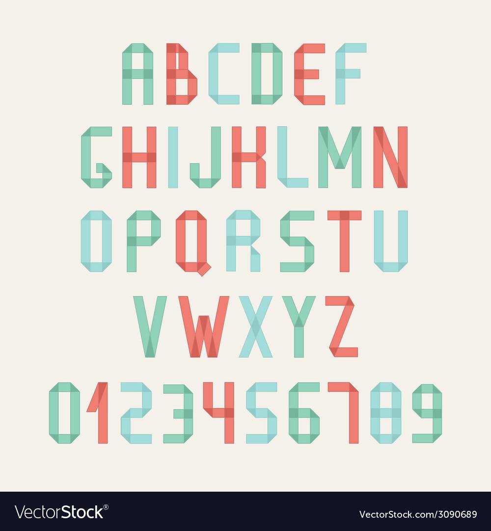 Simple colorful font complete abc alphabet set vector | Price: 1 Credit (USD $1)