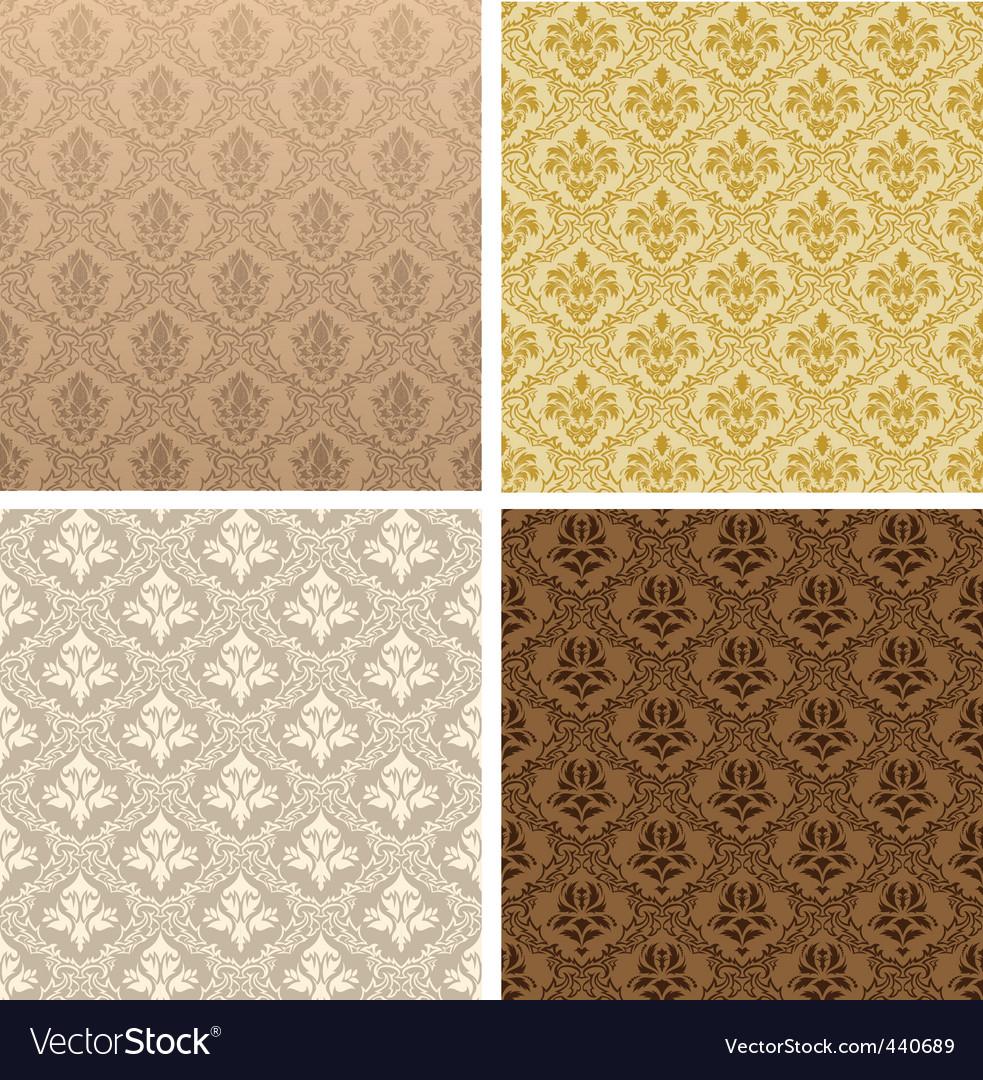 Vintage damask patterns vector   Price: 1 Credit (USD $1)