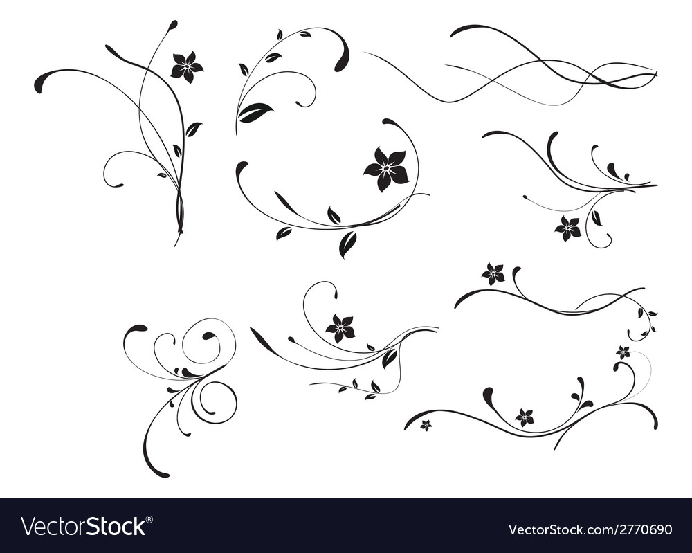 Abstract floral patterns vector | Price: 1 Credit (USD $1)
