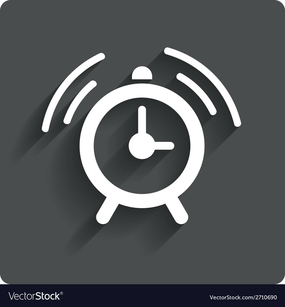 Alarm clock sign icon wake up alarm symbol vector   Price: 1 Credit (USD $1)