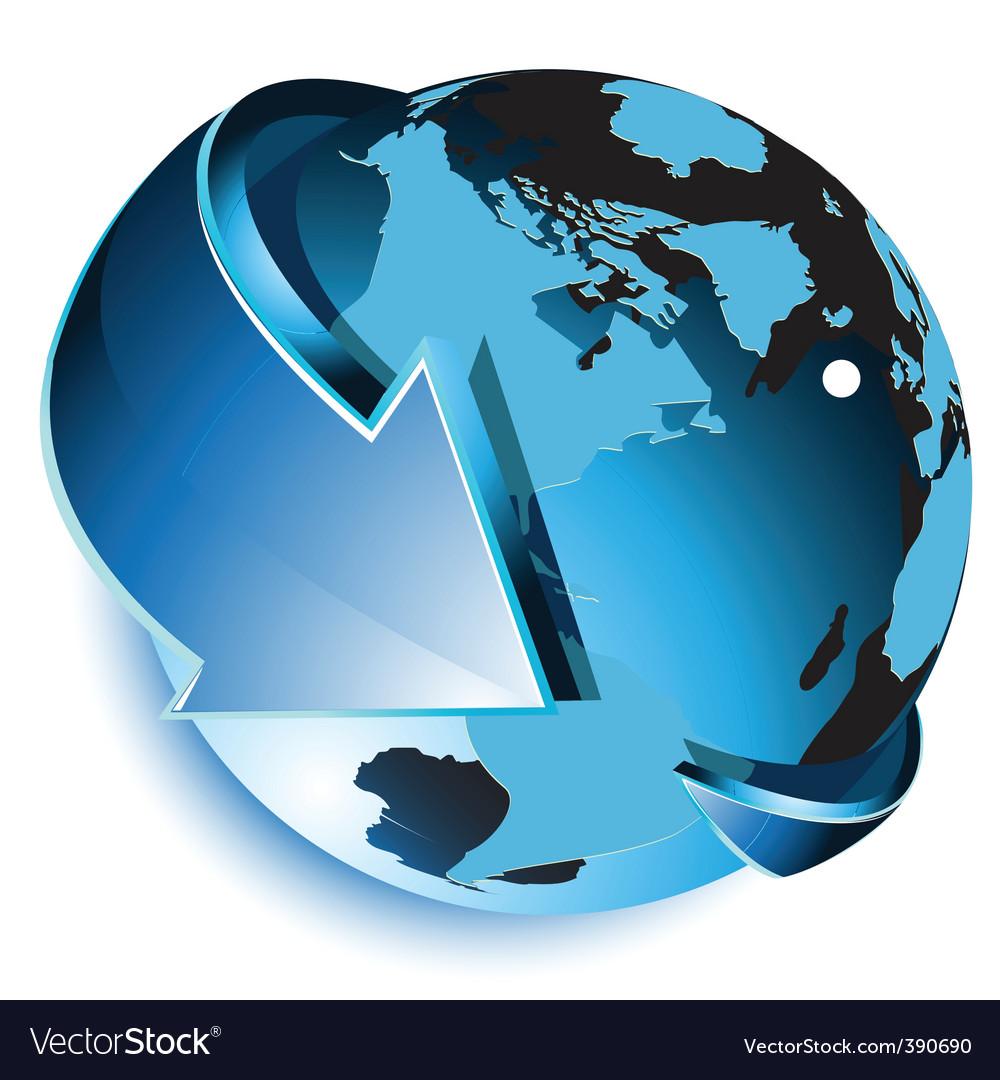 Globe icon vector | Price: 3 Credit (USD $3)