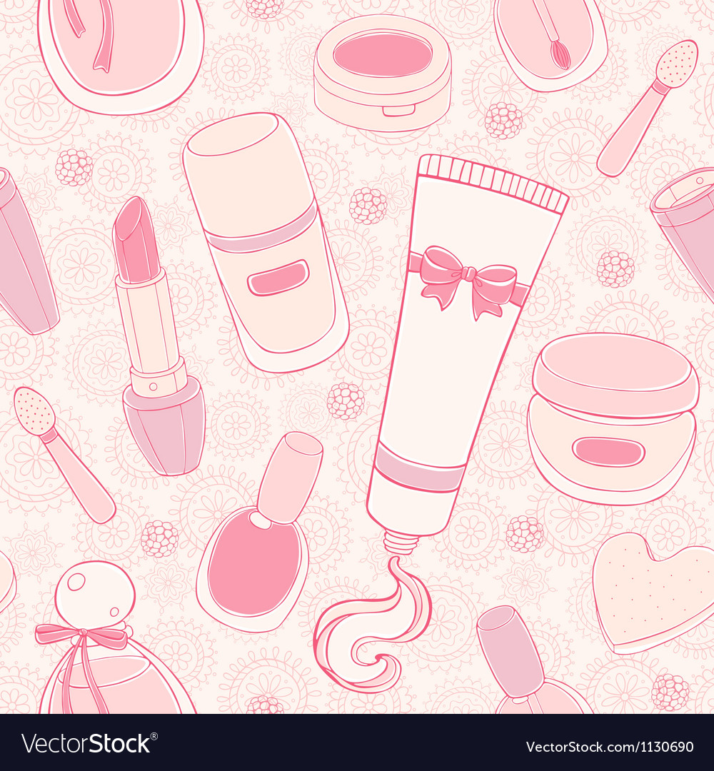 Make up seamless pattern vector | Price: 1 Credit (USD $1)