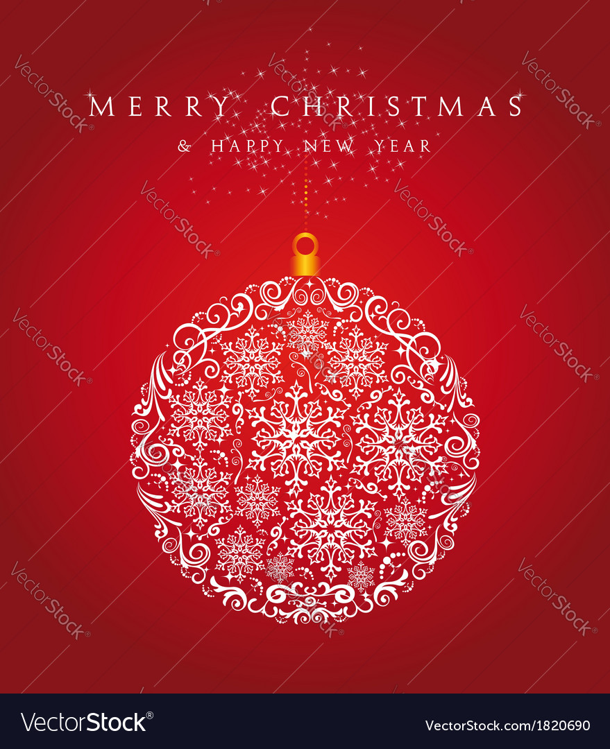 Merry christmas bauble background eps10 file vector | Price: 1 Credit (USD $1)
