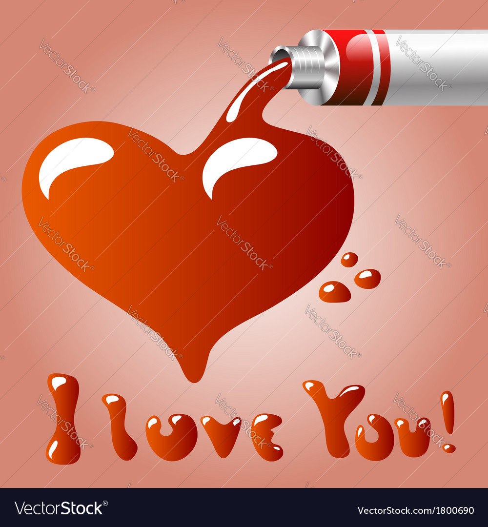 Oil paint heart vector   Price: 1 Credit (USD $1)