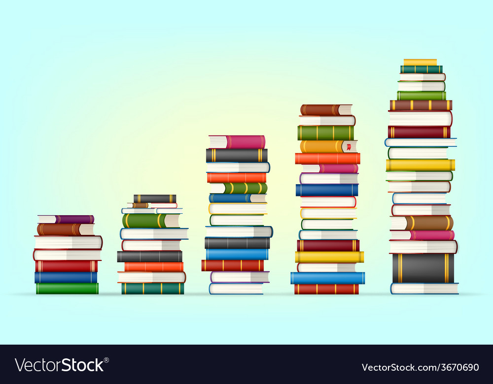 Stacks of colorful books vector | Price: 1 Credit (USD $1)
