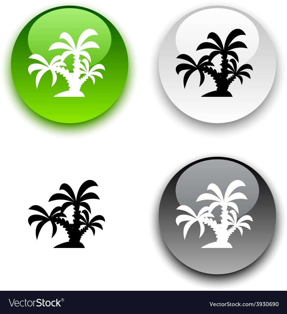 Tropical button vector | Price: 1 Credit (USD $1)