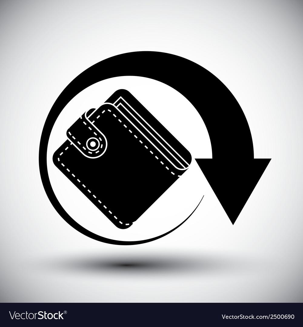 Wallet simple single color icon vector | Price: 1 Credit (USD $1)
