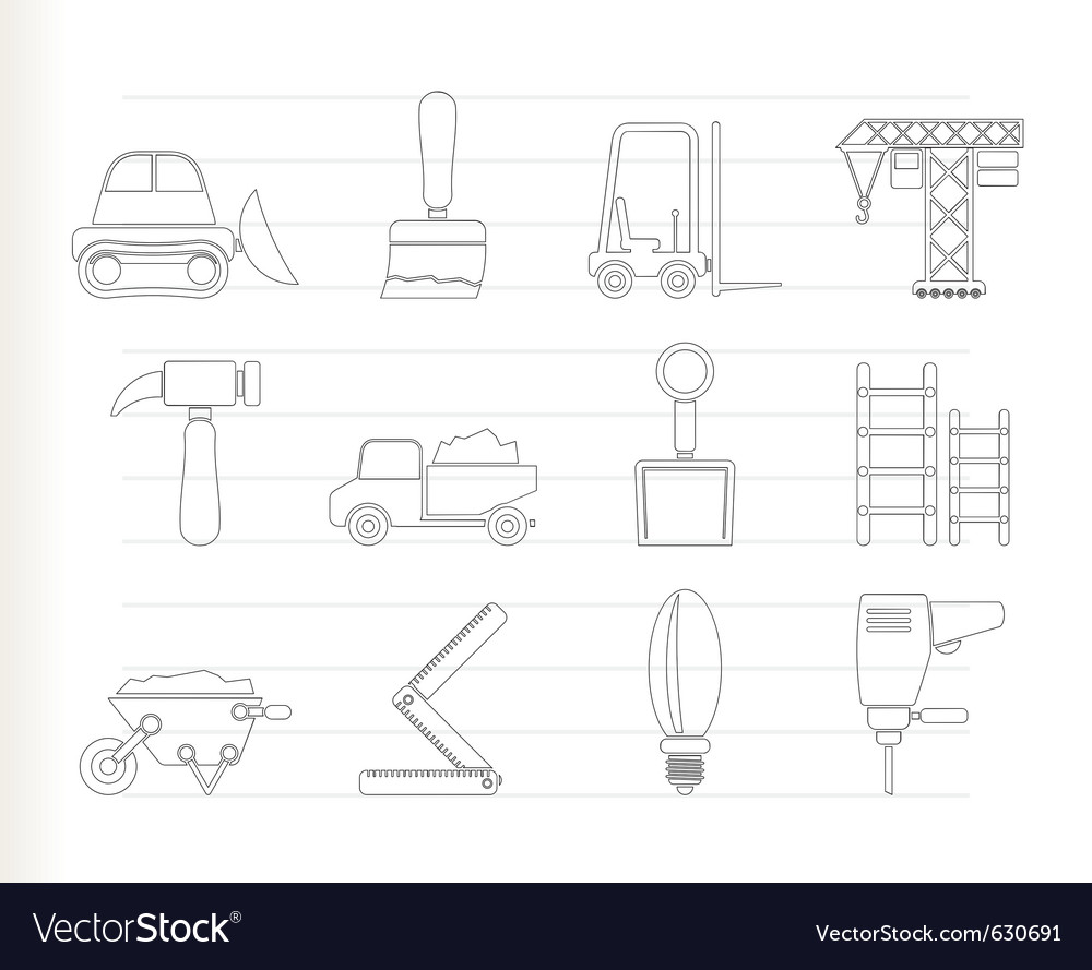 Building and construction icons vector | Price: 1 Credit (USD $1)
