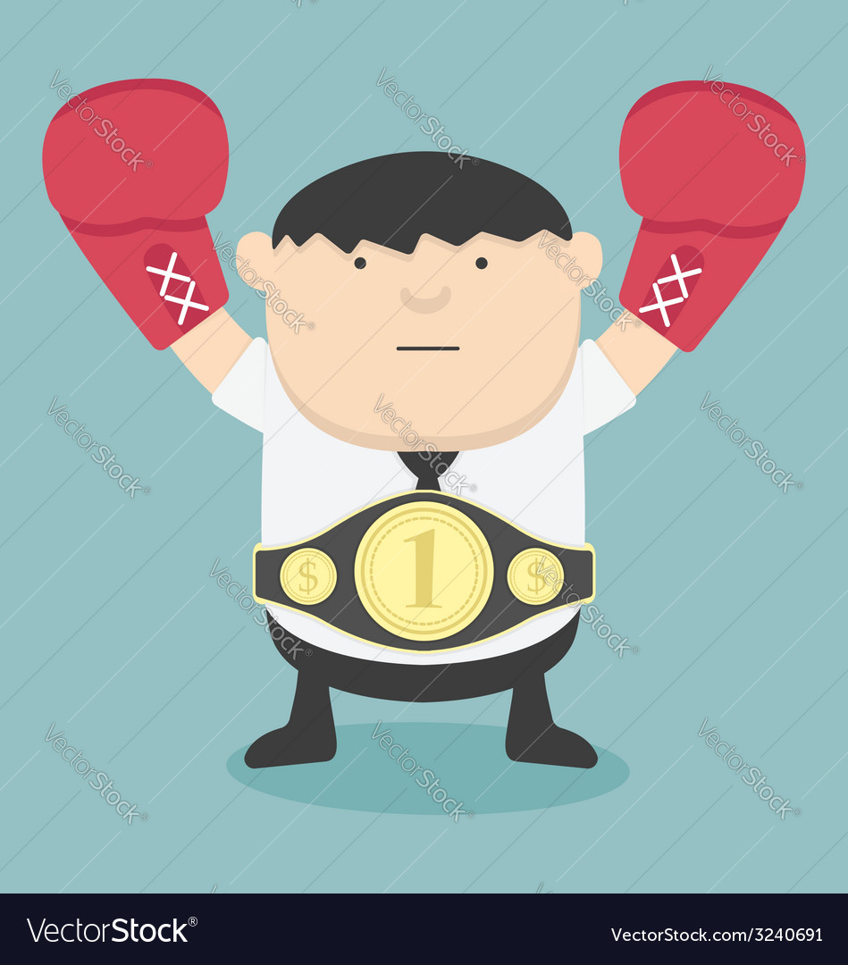 Business champion fat vector   Price: 1 Credit (USD $1)