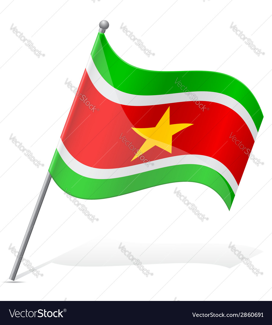 Flag of suriname vector | Price: 1 Credit (USD $1)