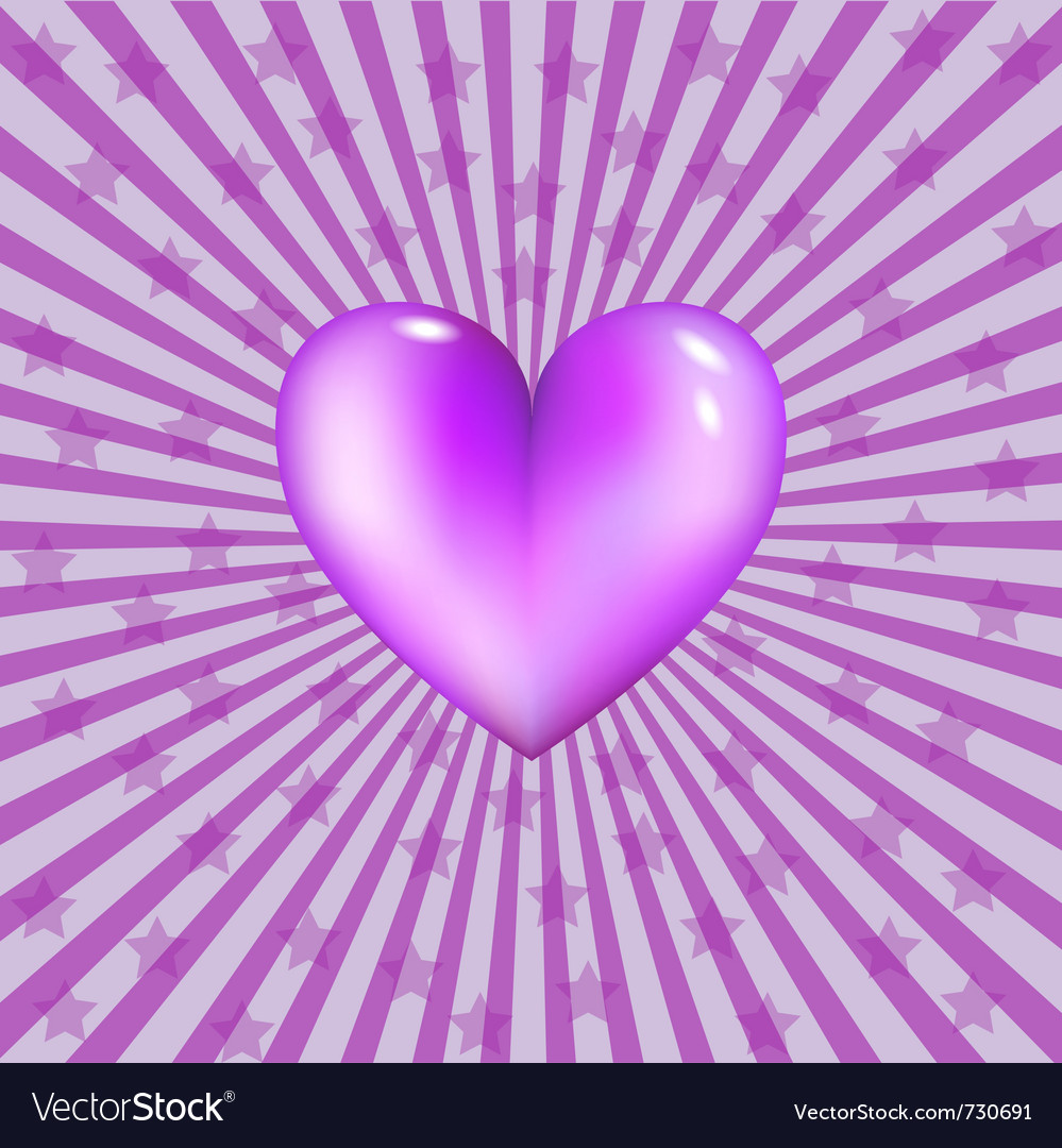 Glassy violet heart vector | Price: 1 Credit (USD $1)