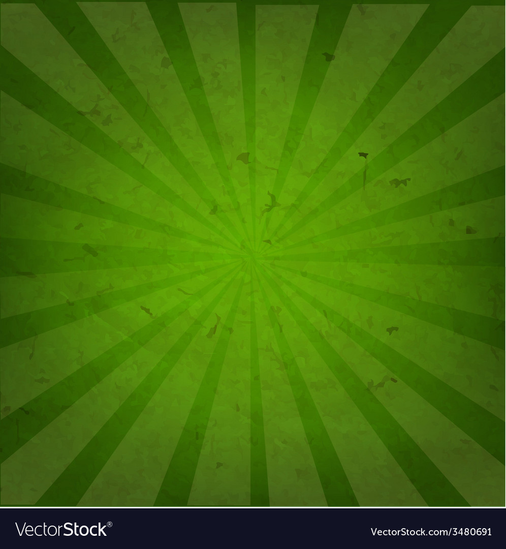 Green grunge background texture with sunburst vector | Price: 1 Credit (USD $1)