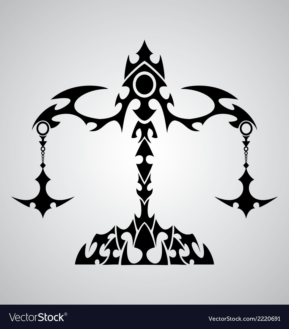 Libra sign tribal vector | Price: 1 Credit (USD $1)