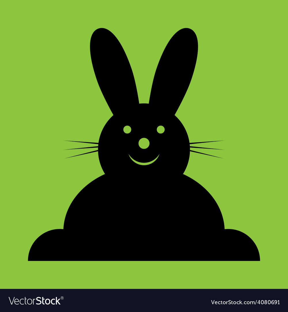 Sitting smiling black easter bunny vector | Price: 1 Credit (USD $1)