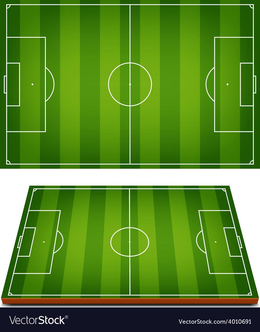 Soccer fields striped grass vector | Price: 1 Credit (USD $1)
