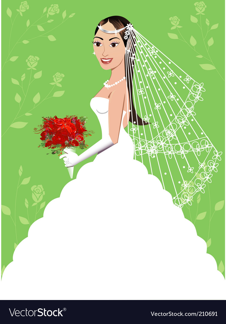 Wedding gown vector | Price: 3 Credit (USD $3)