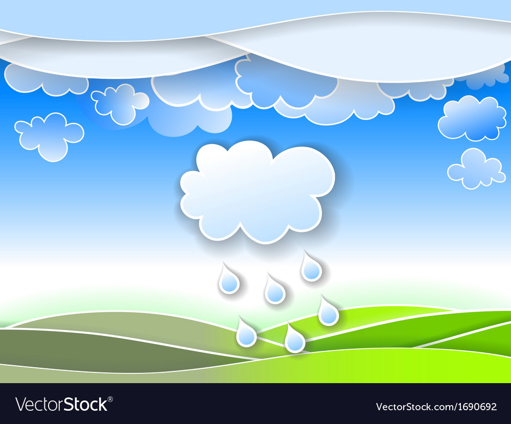 A spring rain vector | Price: 1 Credit (USD $1)