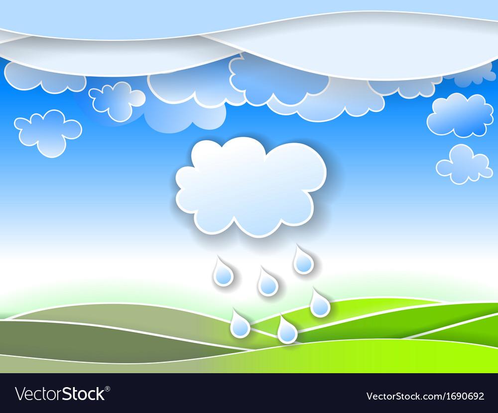 A spring rain vector | Price: 1 Credit (USD $1)