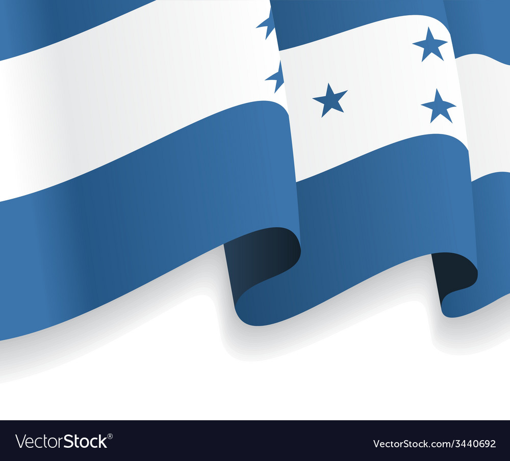 Background with waving honduras flag vector | Price: 1 Credit (USD $1)