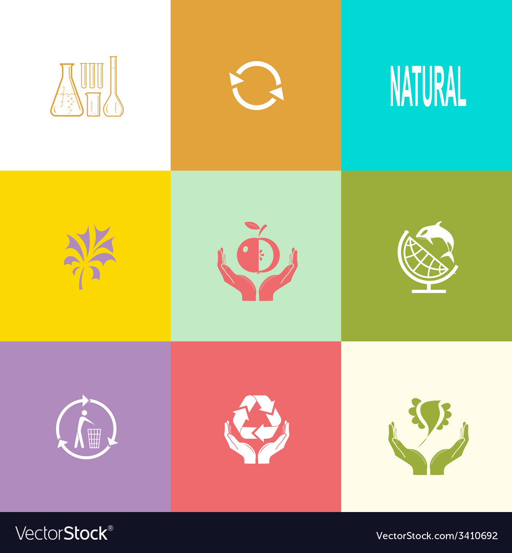 Ecology set vector | Price: 1 Credit (USD $1)