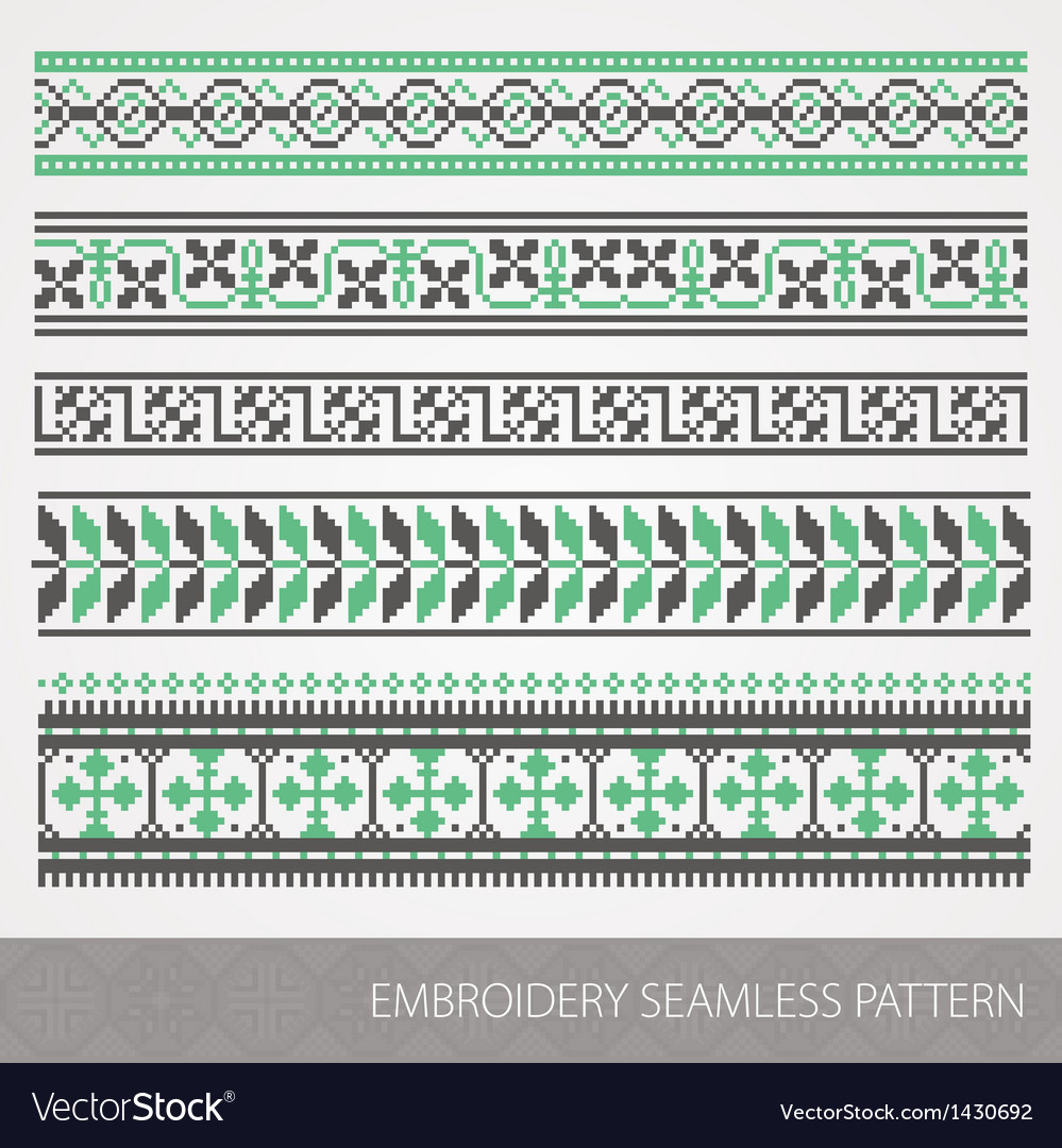 Embrodery ornaments vector | Price: 1 Credit (USD $1)