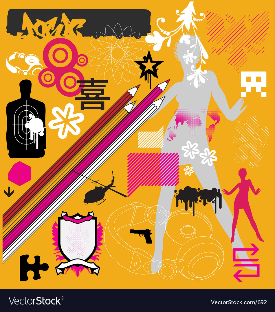 Graphic funk vector | Price: 1 Credit (USD $1)