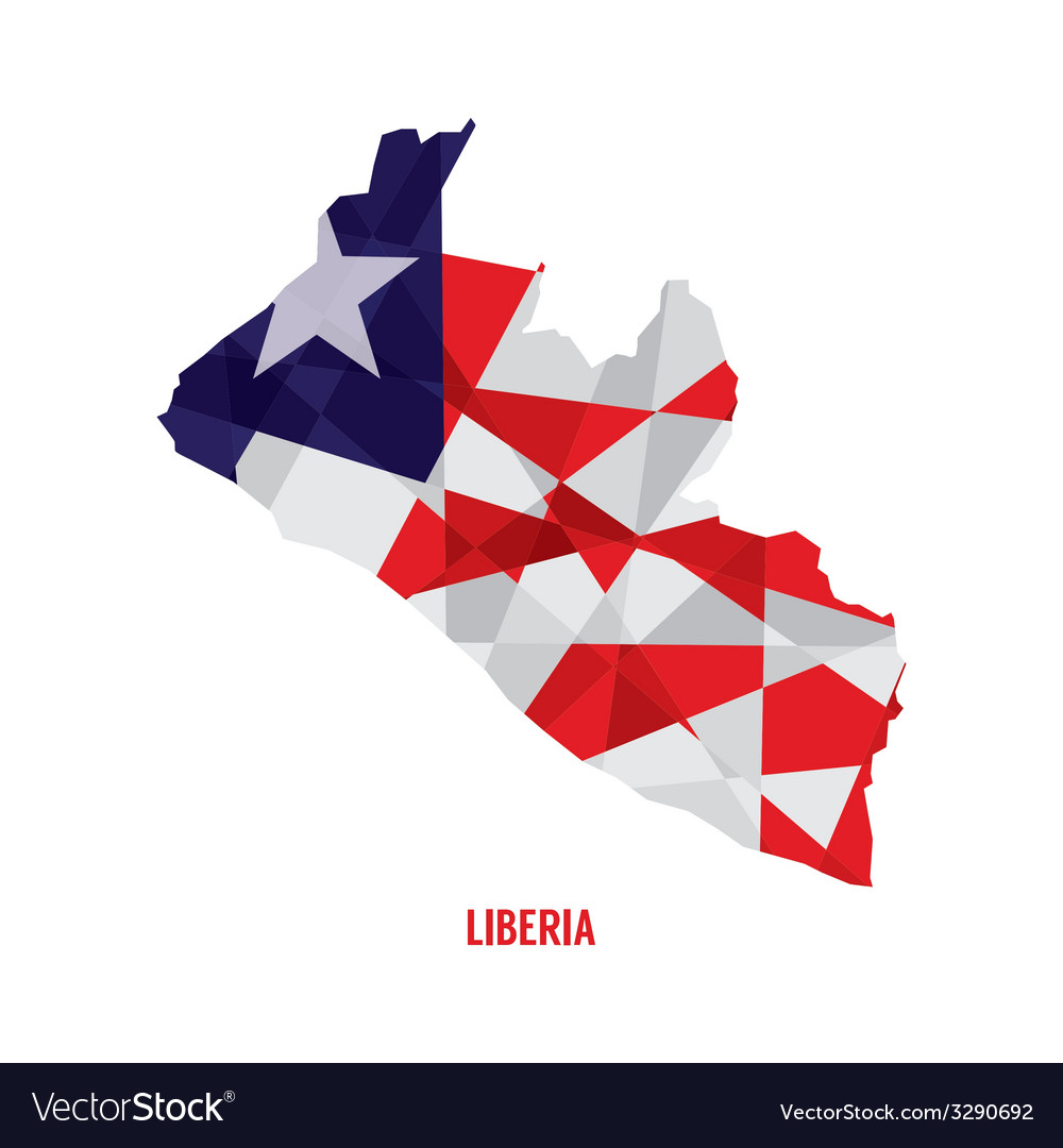 Map of liberia vector | Price: 1 Credit (USD $1)