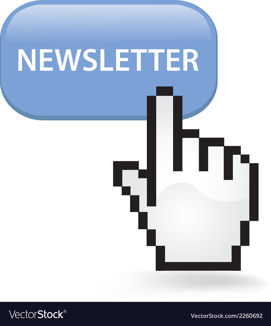 Newsletter button vector | Price: 1 Credit (USD $1)