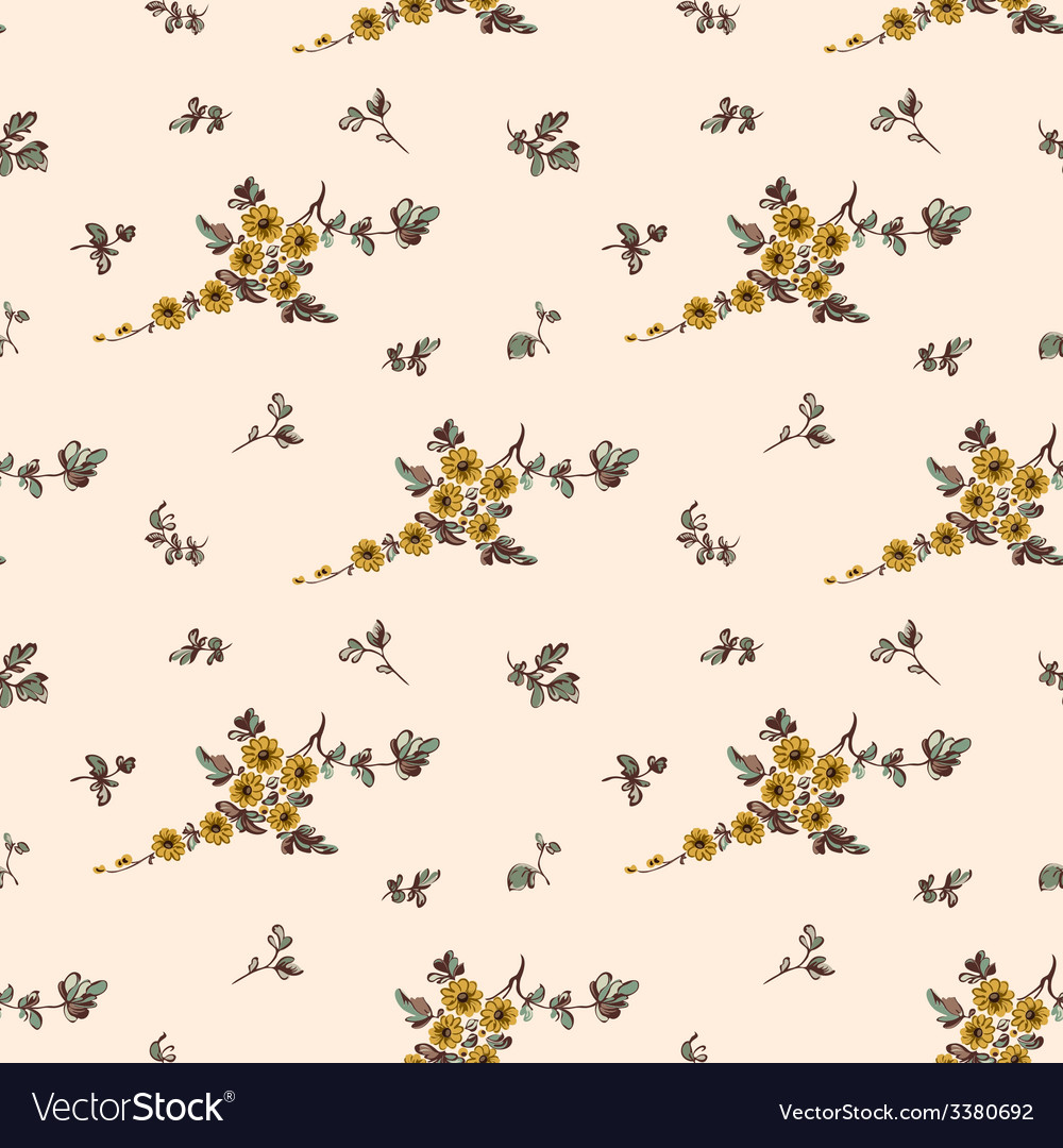 Seampless pattern yellow flower floral vector | Price: 1 Credit (USD $1)