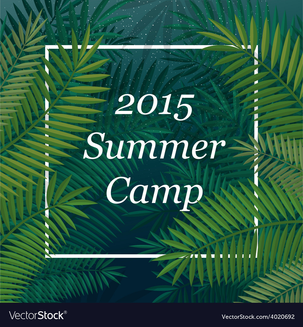 Travel themed summer camp poster vector | Price: 1 Credit (USD $1)