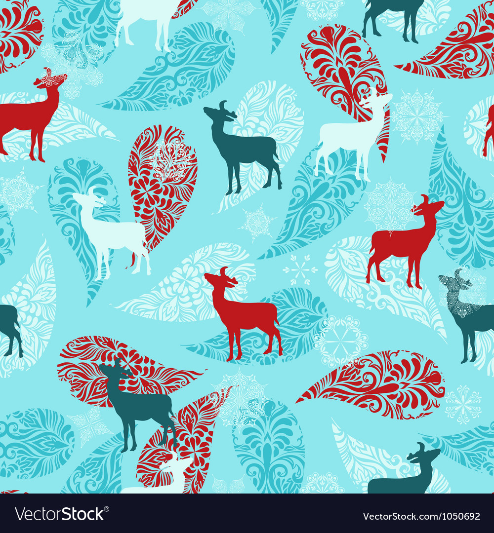 Winter seamless pattern vector | Price: 1 Credit (USD $1)