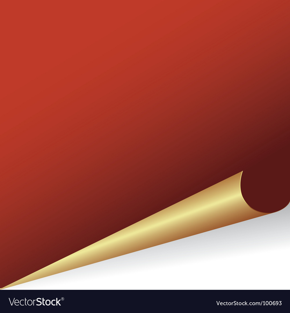 Big red paper background curled vector | Price: 1 Credit (USD $1)
