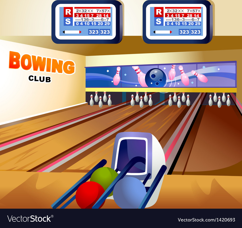 Bowling alley background vector | Price: 1 Credit (USD $1)