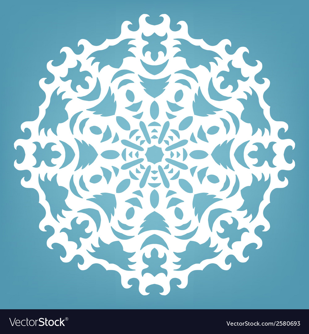 Christmas decorative lace ornament vector | Price: 1 Credit (USD $1)