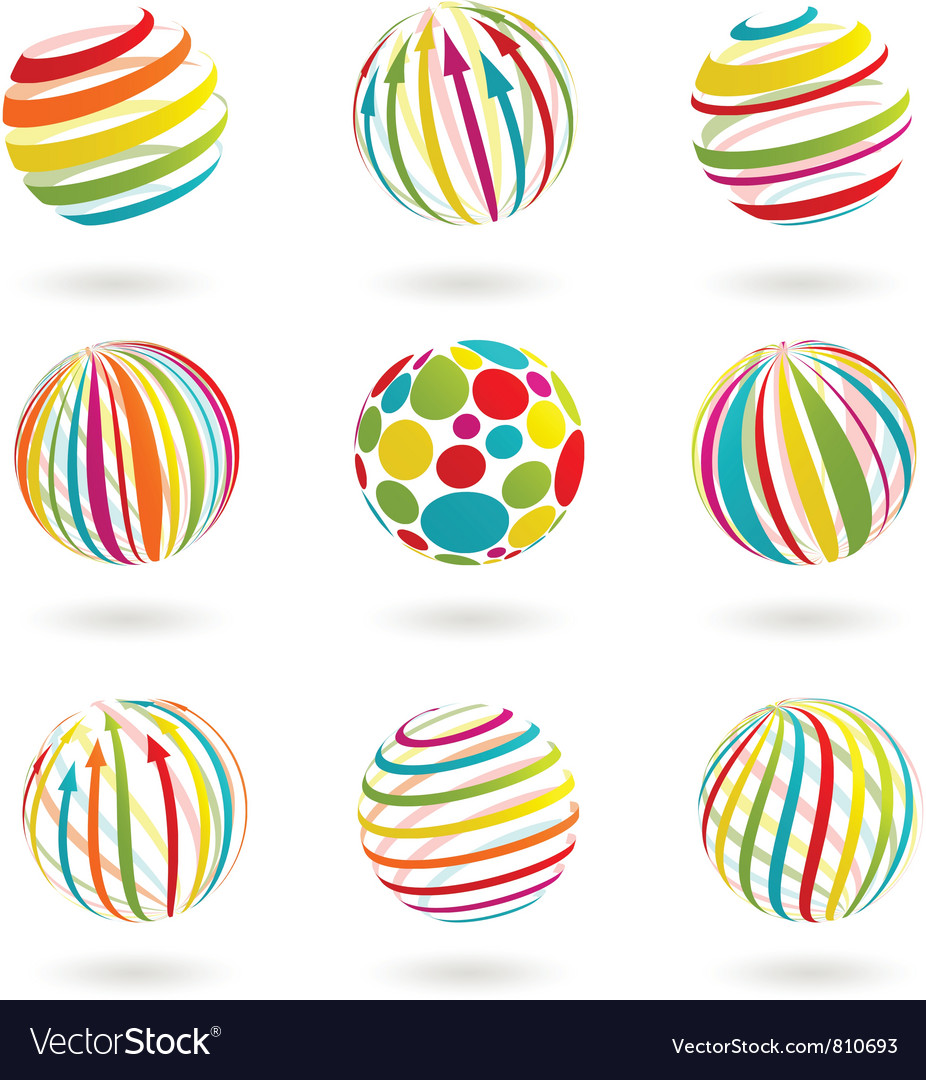 Color planet icons vector | Price: 3 Credit (USD $3)