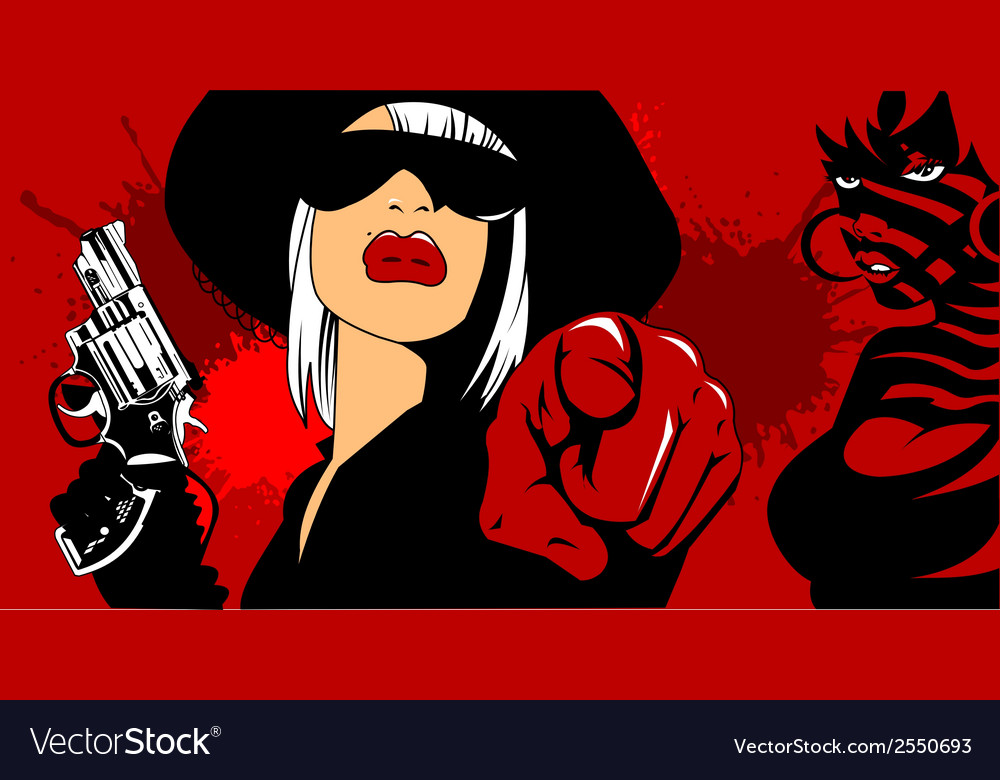 Femme fatal background vector | Price: 1 Credit (USD $1)