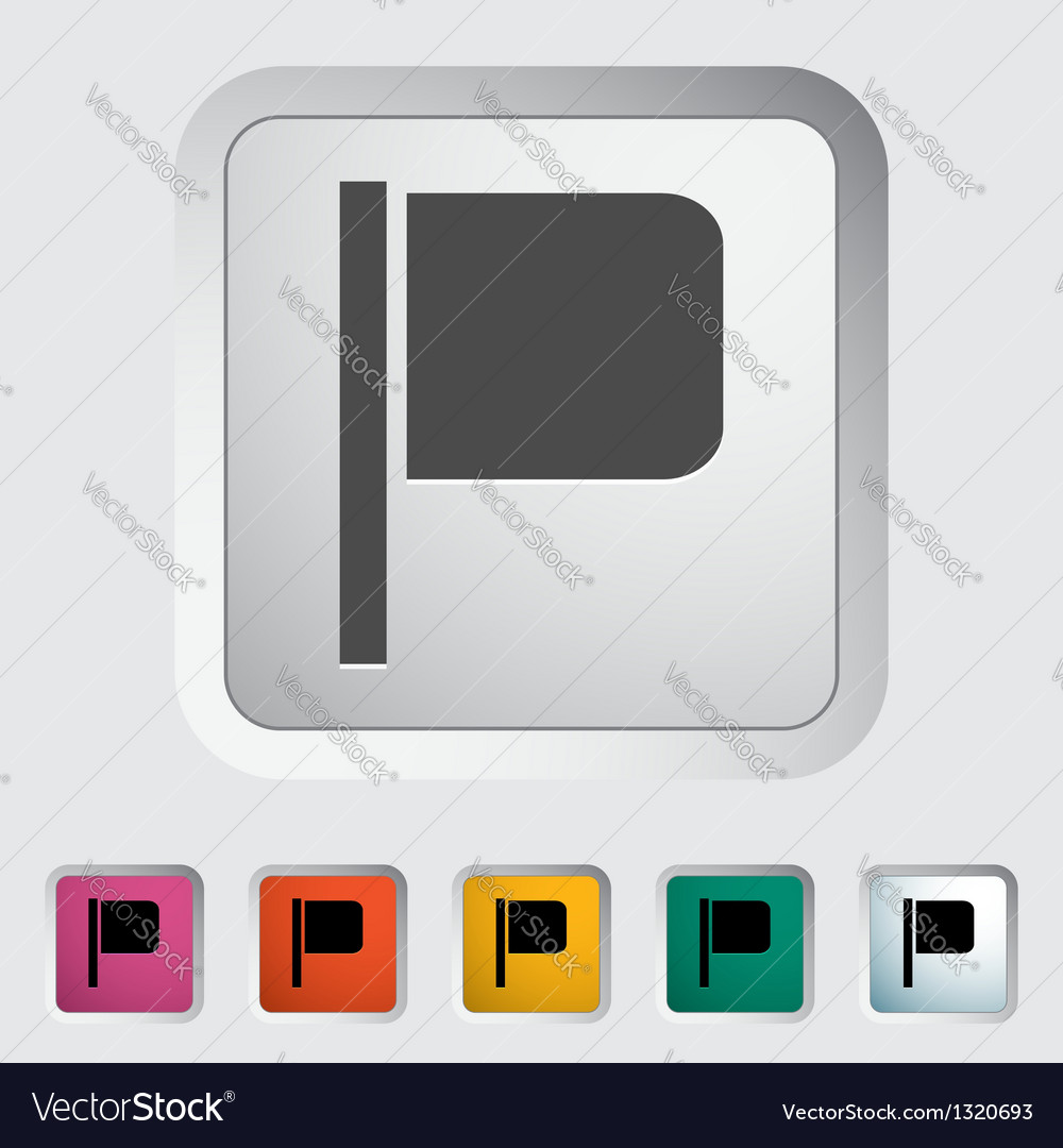 Flag single icon vector | Price: 1 Credit (USD $1)