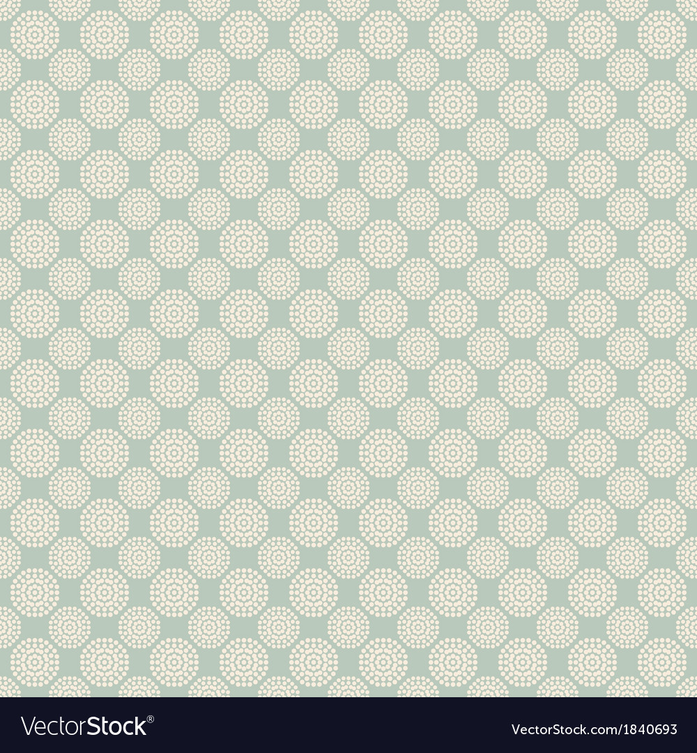 Floral seamless pattern with dots tiling vector | Price: 1 Credit (USD $1)