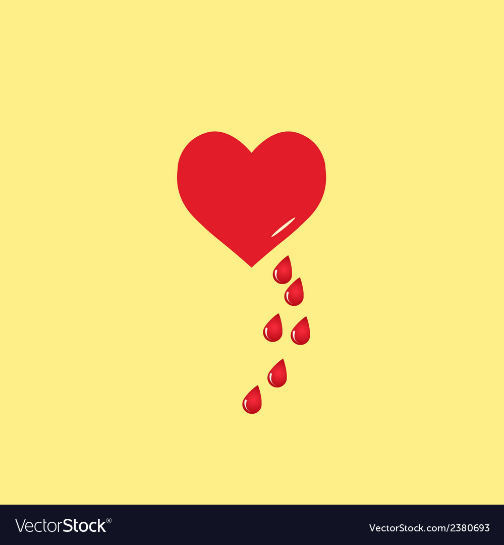 Heart and blood drop vector | Price: 1 Credit (USD $1)