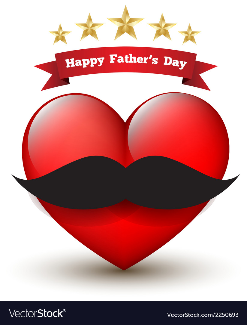 Heart with happy father day vector | Price: 1 Credit (USD $1)