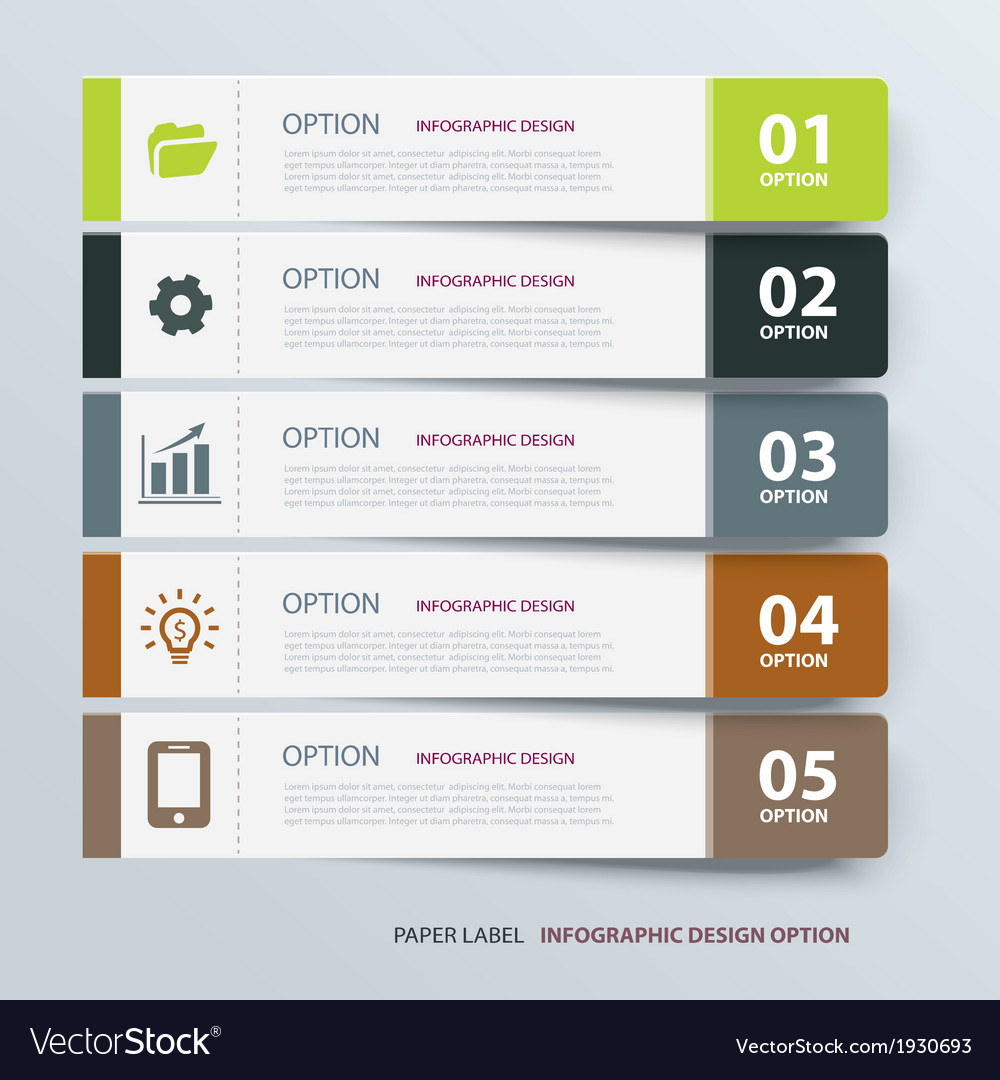 Infographic label tab template vector | Price: 1 Credit (USD $1)