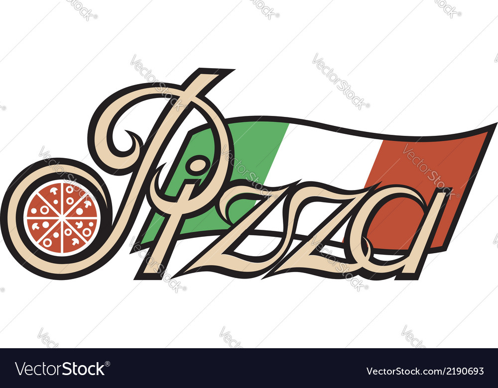 Pizza label vector | Price: 1 Credit (USD $1)