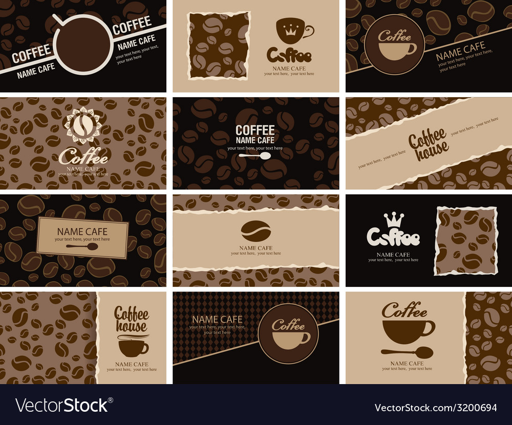 Business card coffee vector | Price: 1 Credit (USD $1)