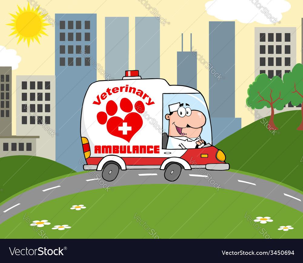 Cartoon vet vector   Price: 1 Credit (USD $1)