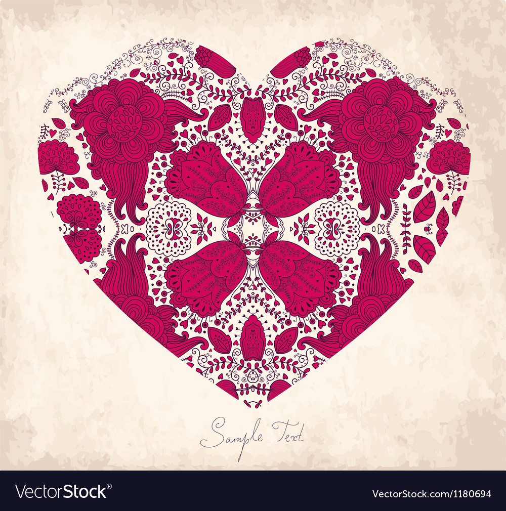 Detailed love heart vector | Price: 3 Credit (USD $3)