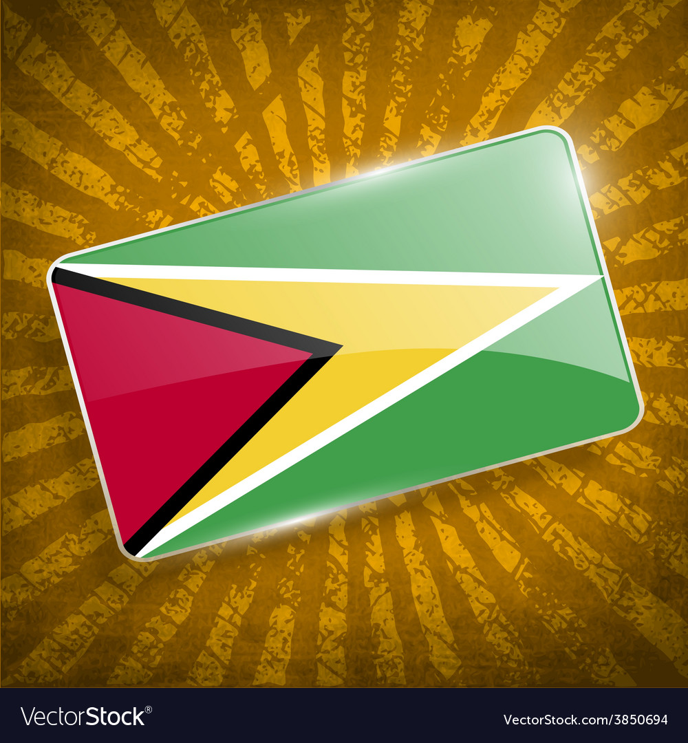 Flag of guyana with old texture vector   Price: 1 Credit (USD $1)