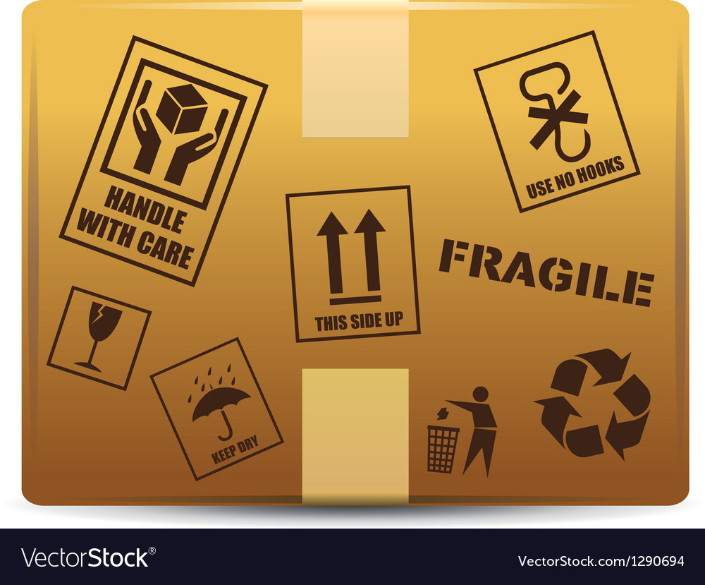 Fragile box delivery vector | Price: 1 Credit (USD $1)