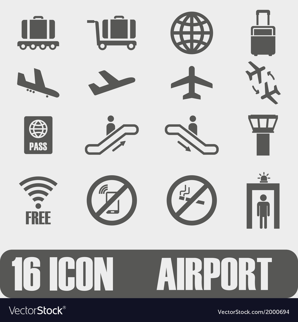 Icon airport on white background vector | Price: 1 Credit (USD $1)