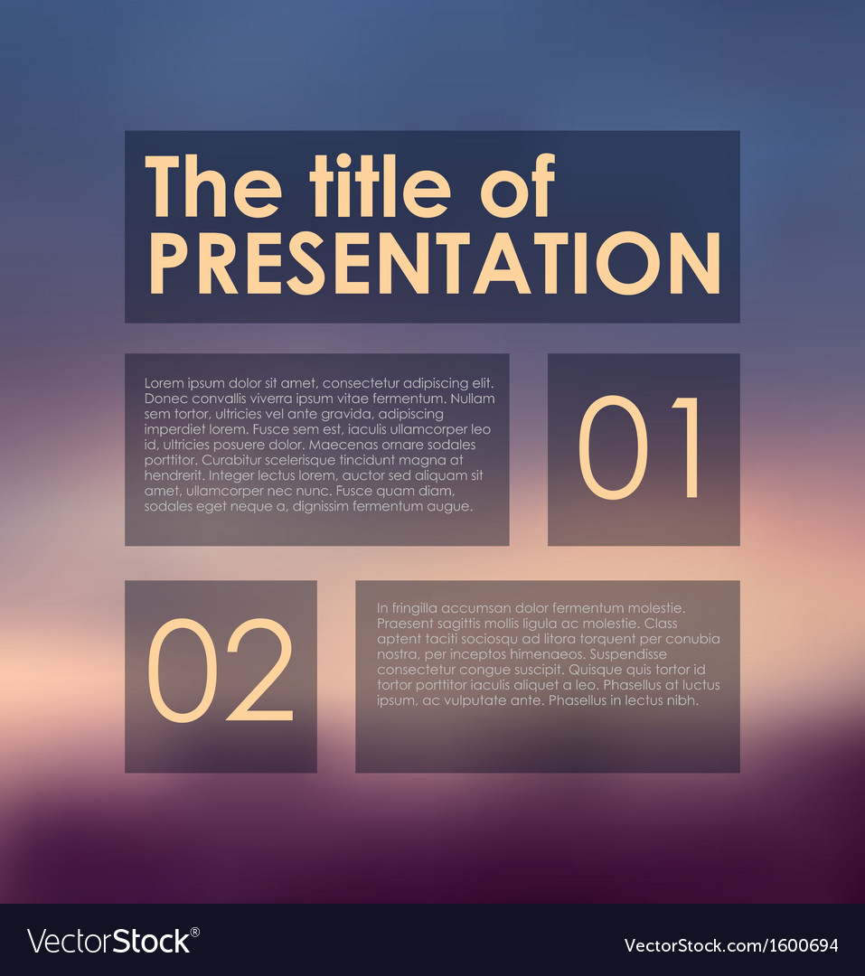 Presentation panels on colored background vector | Price: 1 Credit (USD $1)